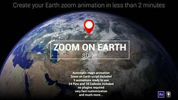 افترافکت Zoom On Earth Suite